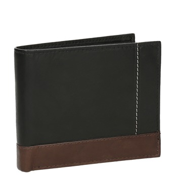 Men's leather wallet bata, black , 944-6149 - 13