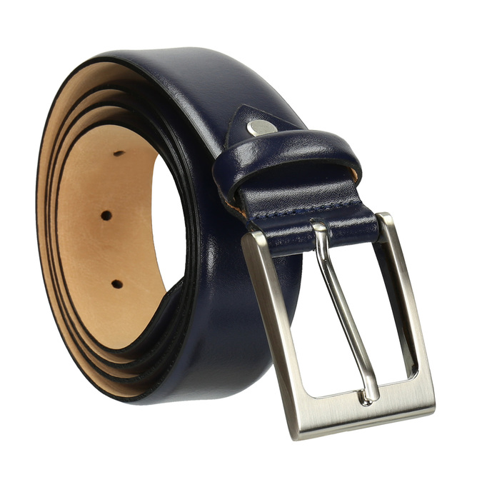 Men's belt bata, blue , 954-9819 - 13