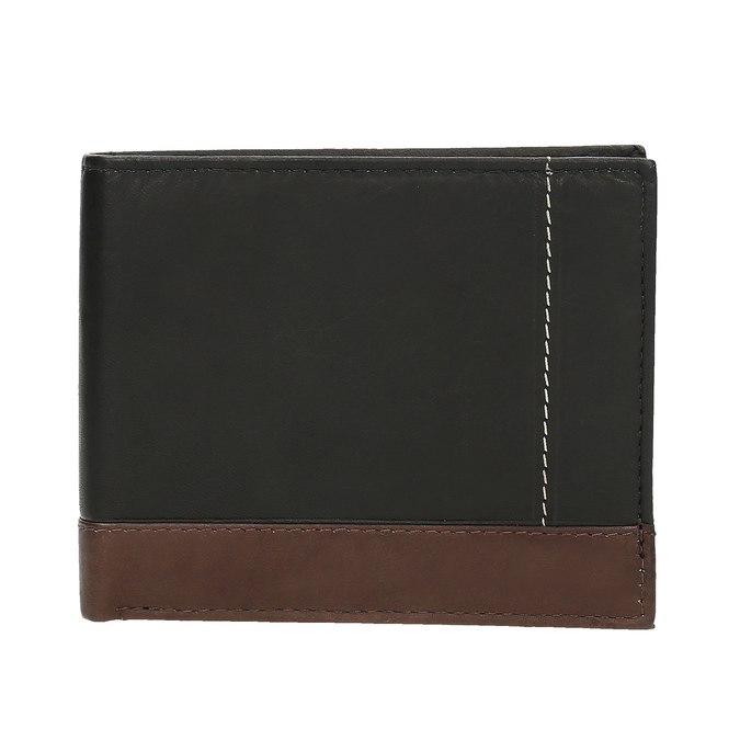 Men's leather wallet, black , 944-6149 - 26