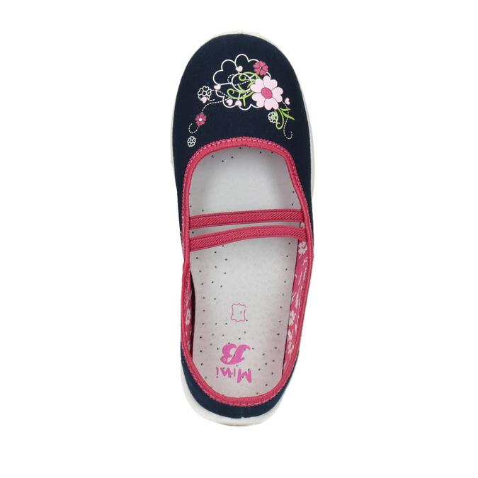 Children's slippers mini-b, blue , 379-9208 - 19