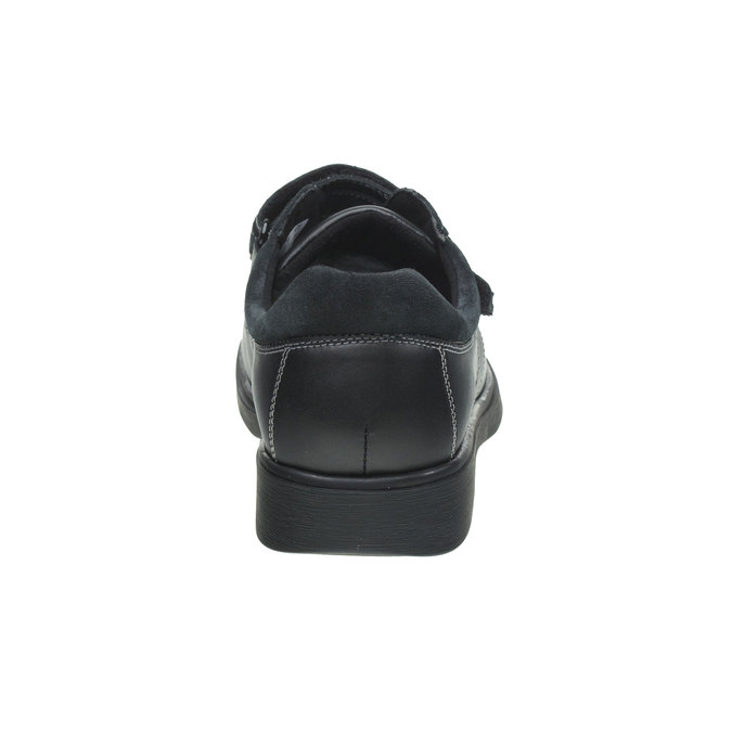 Leather Sneakers, black , 834-6001 - 17