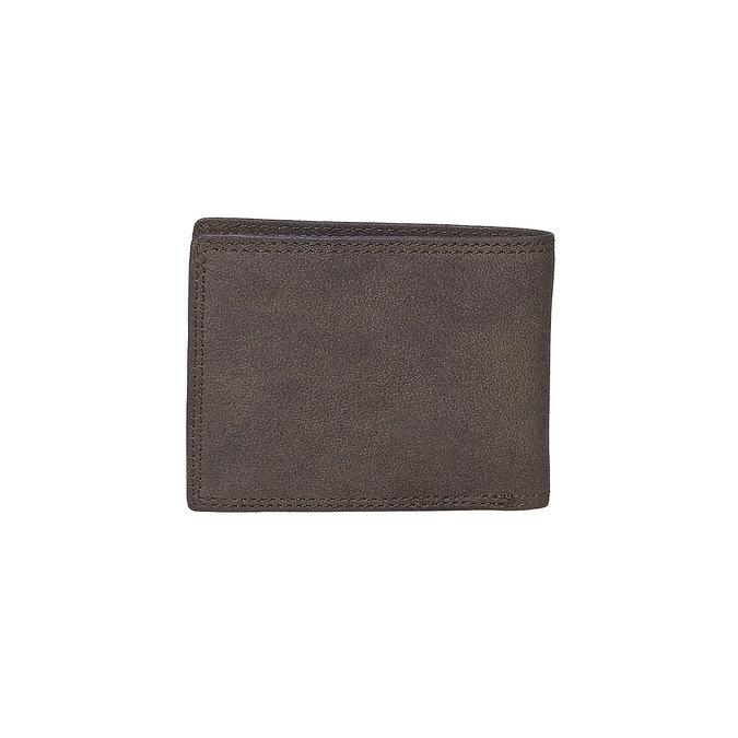 Men's leather wallet bata, brown , 944-4129 - 26