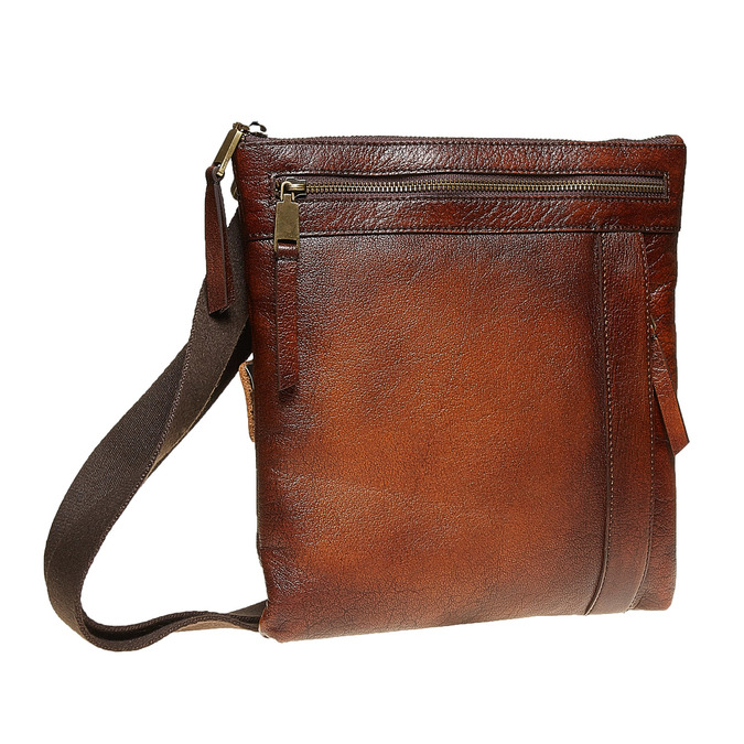 Men´s leather Crossbody bag bata, brown , 964-4138 - 13