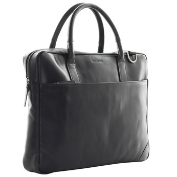 Leather bag with strap royal-republiq, black , 964-6199 - 13
