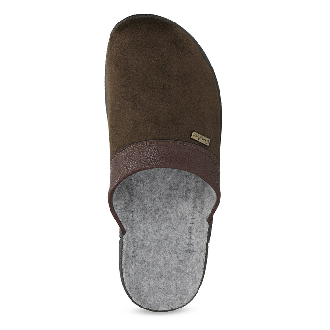 Men's slippers, brown , 879-4600 - 17
