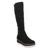 Ladies' flatform high boots bata, black , 699-6600 - 13