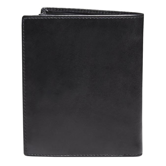Men's leather wallet, black , 944-6121 - 26
