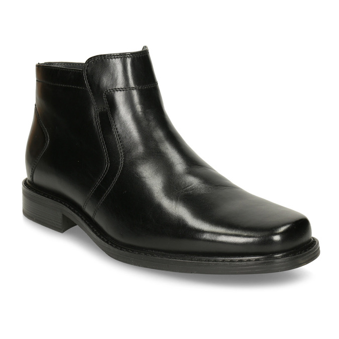 Insulated leather ankle boots, black , 894-6641 - 13