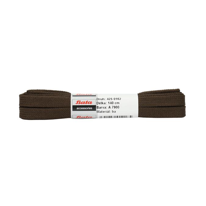 Brown flat laces bata, brown , 901-4140 - 13