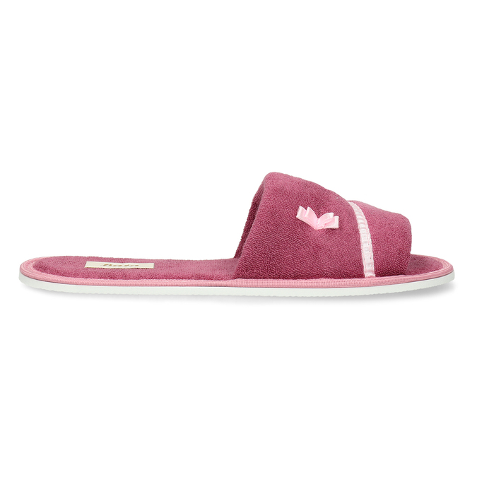 Ladies' slippers with bow bata, pink , 579-5609 - 19
