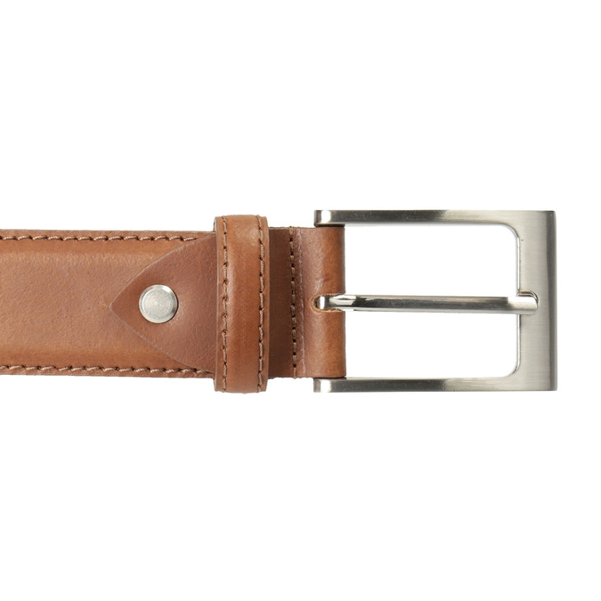 Men's brown leather belt, brown , 954-4153 - 26