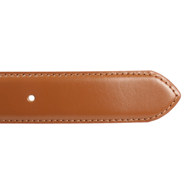 Men's brown leather belt, brown , 954-3153 - 16