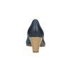 Ladies´ leather pumps bata, blue , 626-9639 - 17