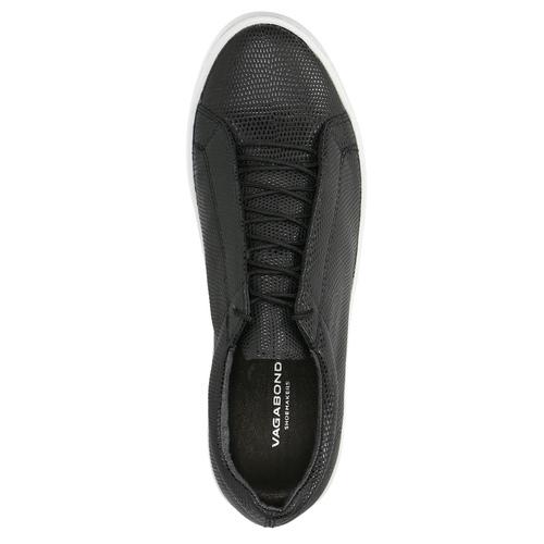 Black leather sneakers vagabond, black , 624-6014 - 19