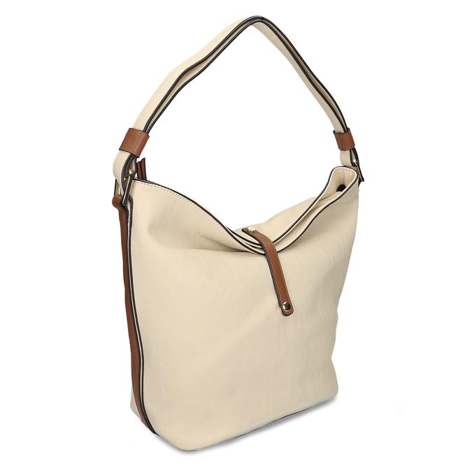 Hobo-style handbag, beige , 961-8705 - 13