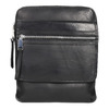 Men's leather crossbody bag, black , 964-6237 - 19