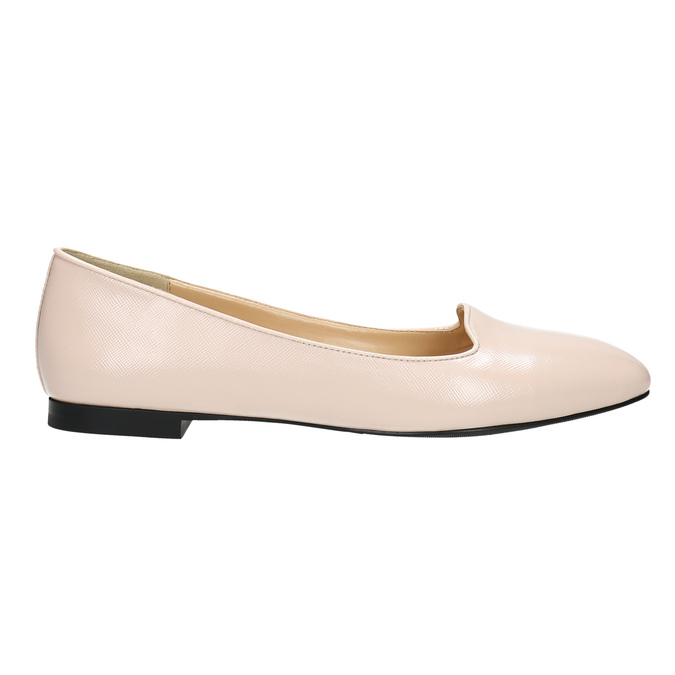Ladies' leather ballerinas bata, pink , 528-5630 - 15
