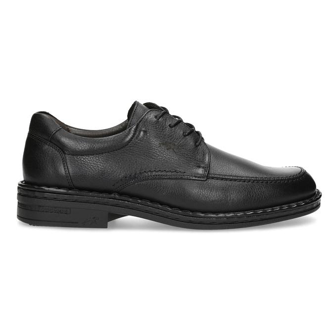 Black leather shoes, black , 824-6451 - 19