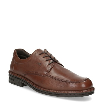 Brown leather dress shoes fluchos, brown , 824-3451 - 13