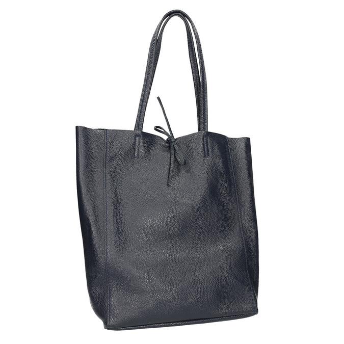 Ladies' leather Shopper handbag bata, blue , 964-9122 - 13