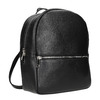Black leather backpack, black , 964-6240 - 13
