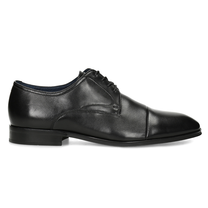 Men's leather Derby shoes, black , 824-6406 - 19