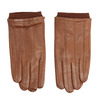 Brown leather gloves bata, brown , 904-3117 - 26
