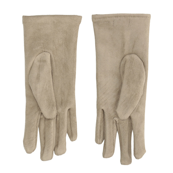 Ladies' Textile Gloves with Buttons bata, beige , 909-8612 - 16
