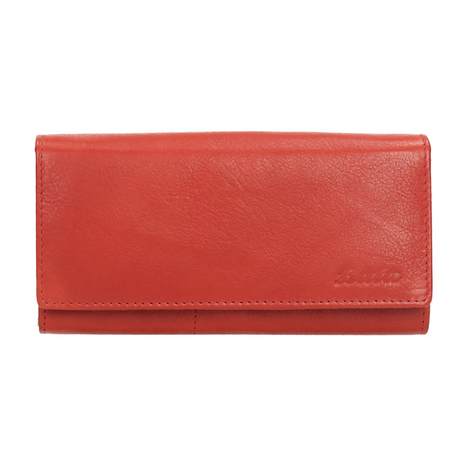 Ladies' red leather purse bata, red , 944-3203 - 26