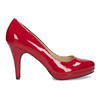 Red patent leather pumps insolia, red , 728-5104 - 19
