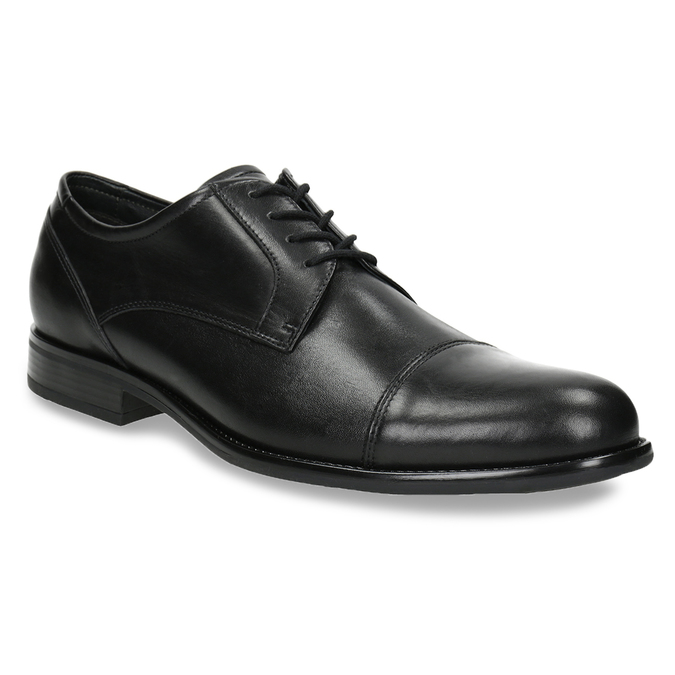 Men's Leather Derby Shoes, black , 824-6995 - 13