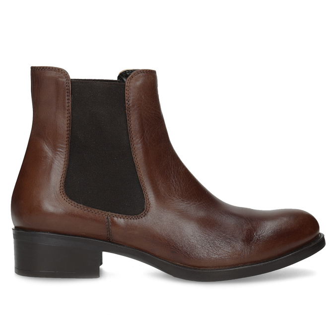 Leather Chelsea footwear bata, brown , 594-4448 - 19