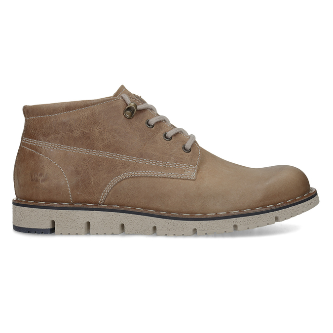 Leather ankle boots on a distinctive outsole weinbrenner, brown , 846-4658 - 19