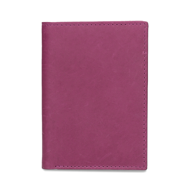 Leather document and card case, pink , 944-5158 - 16