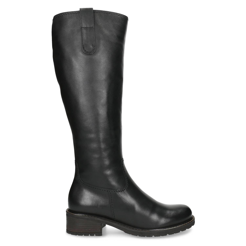 674c22639dab1 ... Ladies' Black Leather High Boots gabor, black , 694-6139 - 19 ...
